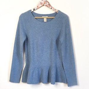Sundance Blue Peplum Sweater